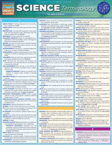 QuickStudy | Science Terminology Laminated Study Guide