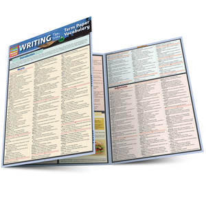Quick Study QuickStudy Writing Tips & Tricks: Term Paper Vocabulary Laminated Study Guide BarCharts Publishing Language Arts Academic Reference Guide Main Image