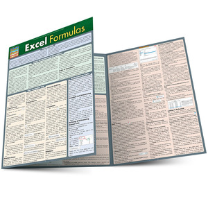 QuickStudy Quick Study Excel Formulas Laminated Reference Guide BarCharts Publishing Computer Guide Main Image
