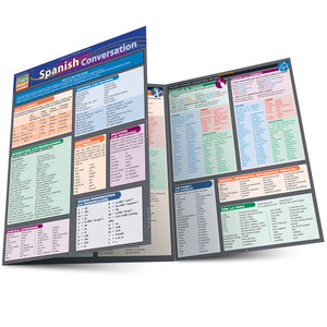 Quick Study QuickStudy Spanish Conversation Laminated Study Guide BarCharts Publishing Spanish Convo Main Image