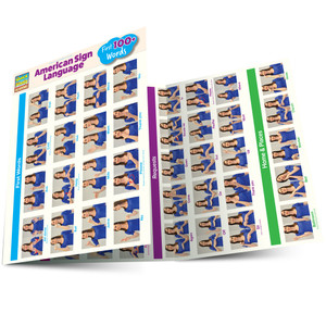 Quick Study QuickStudy American Sign Language: First 100+ Words Laminated Guide BarCharts Publishing Main Image