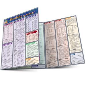 Quick Study QuickStudy Russian Grammar Laminated Study Guide BarCharts Publishing Russian Grammar Main Image