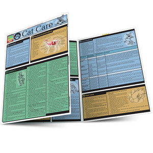 Quick Study QuickStudy Cat Care Laminated Reference Guide BarCharts Publishing Pet Care & Health Reference Main Image