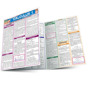 Quick Study QuickStudy Calculus 1 Laminated Study Guide BarCharts Publishing Calculus 1 Reference Main Image