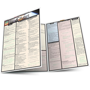 Quick Study QuickStudy C#.Net Laminated Study Guide BarCharts Publishing Computer Programming Guide Main Image
