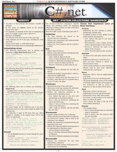 Quick Study QuickStudy C#.Net Laminated Study Guide BarCharts Publishing Computer Programming Guide Cover Image