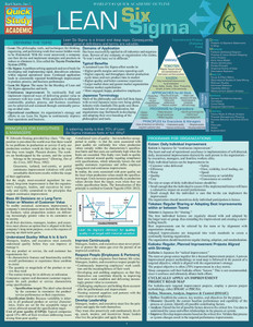 Quick Study QuickStudy Lean Six Sigma Laminated Reference Guide BarCharts Publishing Career Outline Cover Image