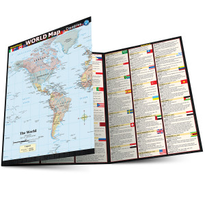 QuickStudy | World Map: Countries Laminated Reference Guide