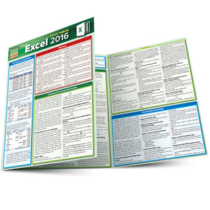 Quick Study QuickStudy MS Excel 2016: Pivot Tables Laminated Reference Guide BarCharts Publishing Business Software Reference Main Image