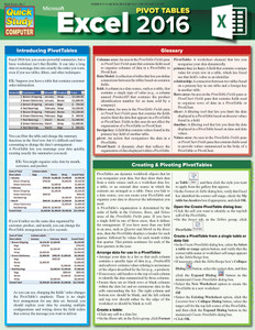 QuickStudy | MS Excel 2016: Pivot Tables Laminated Reference Guide