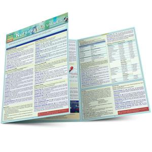Quick Study QuickStudy Nursing: Lab Values Laminated Study Guide BarCharts Publishing Medical Academic Reference Main Image