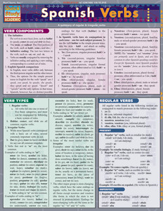 QuickStudy | Spanish Verbs Laminated Study Guide