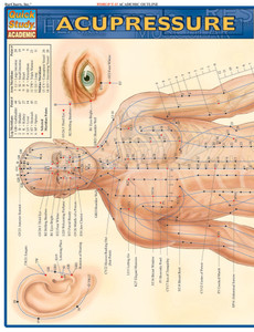 Quick Study QuickStudy Acupressure Laminated Study Guide BarCharts Publishing Acupressure Reference Cover Image