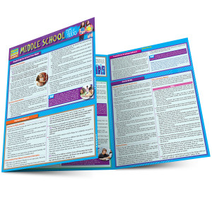 QuickStudy | Middle School: Tips & Tricks Laminated Study Guide