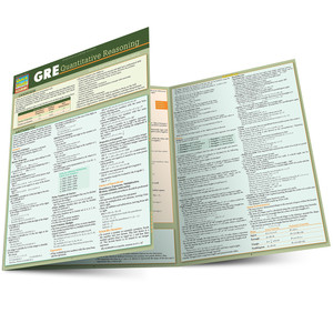 Quick Study QuickStudy GRE: Quantitative Reasoning Laminated Study Guide BarCharts Publishing Guide Main Image