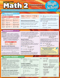 QuickStudy | Math 2: Common Core - 10th Grade Laminated Study Guide