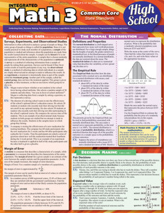 QuickStudy | Math 3: Common Core - 11th Grade Laminated Study Guide
