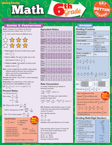 QuickStudy | Math: 6Th Grade Laminated Study Guide