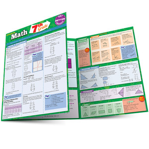 Quick Study QuickStudy Math: 7th Grade Laminated Study Guide BarCharts Publishing Education Reference Guide Main Image