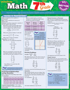 QuickStudy | Math: 7th Grade Laminated Study Guide
