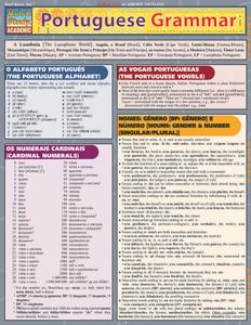 QuickStudy | Portuguese Grammar Laminated Study Guide