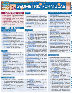 QuickStudy | Geometric Formulas Laminated Study Guide