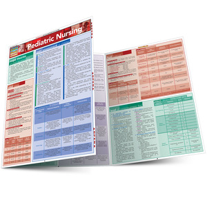 Quick Study QuickStudy Pediatric Nursing Laminated Study Guide BarCharts Publishing Medical Guide Main Image