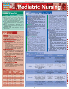 Quick Study QuickStudy Pediatric Nursing Laminated Study Guide BarCharts Publishing Medical Guide Cover Image