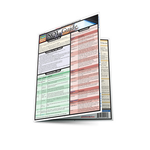 Quick Study QuickStudy SQL Guide Laminated Reference Guide BarCharts Publishing Computer Database Outline Main Image