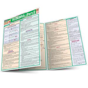 Quick Study QuickStudy Algebraic Part 2 Laminated Study Guide BarCharts Publishing Algebra Pt2 Guide Main Image