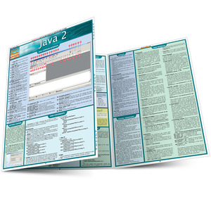 Quick Study QuickStudy Java 2 Laminated Reference Guide BarCharts Publishing Computer Programming Language Reference Main Image