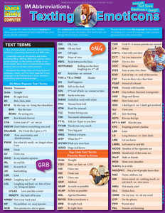 Quick Study QuickStudy IM Abbreviations, Texting & Emoticons Laminated Reference Guide BarCharts Publishing Social Media Reference Cover Image