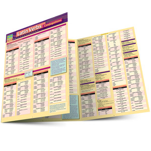 QuickStudy | Latin Verb Conjugations Laminated Study Guide