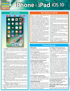 QuickStudy | iPhone & iPad iOS 10 Laminated Reference Guide