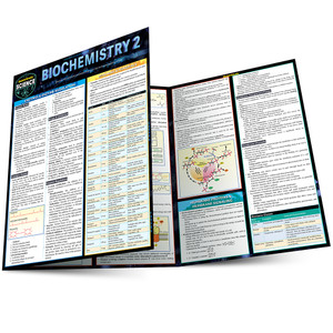 Quick Study QuickStudy Biochemistry 2 Laminated Study Guide BarCharts Publishing Life Science Reference Main Image