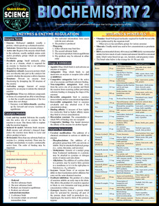 QuickStudy | Biochemistry 2 Laminated Study Guide