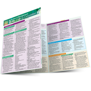 Quick Study QuickStudy Evaluation & Management (E/M) Coding Calculator Laminated Reference Guide BarCharts Publishing Medical Career Reference Main Image