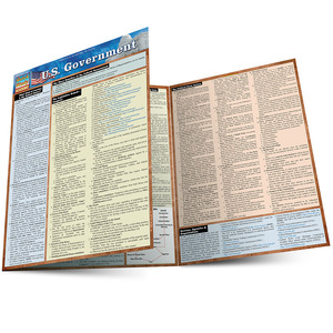 QuickStudy Quick Study U.S. Government Laminated Study Guide BarCharts Publishing Political Science Main Image