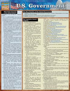QuickStudy | U.S. Government Laminated Study Guide