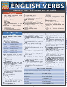 QuickStudy | English Verbs Laminated Study Guide