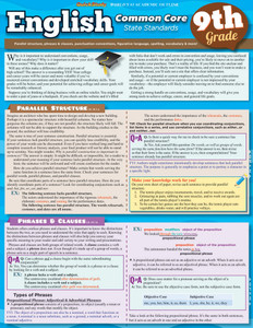 QuickStudy | English: Common Core - 9th Grade Laminated Study Guide