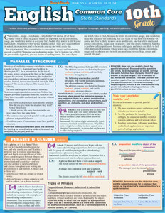 QuickStudy | English: Common Core - 10th Grade Laminated Study Guide
