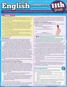 QuickStudy | English: Common Core - 11th Grade Laminated Study Guide