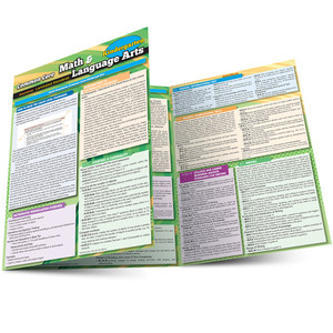 QuickStudy Common Core: Math & Language Arts - Kindergarten Laminated Study Guide