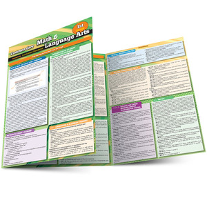 QuickStudy | Common Core: Math & Language Arts - 1st Grade Laminated Study Guide
