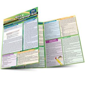 QuickStudy   Common Core: Math & Language Arts - 2nd Grade Laminated Study Guide