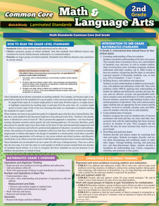 QuickStudy | Common Core: Math & Language Arts - 2nd Grade Laminated Study Guide