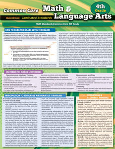 QuickStudy | Common Core: Math & Language Arts - 4th Grade Laminated Study Guide