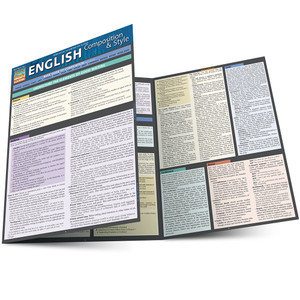 Quick Study QuickStudy English Composition & Style Laminated Study Guide BarCharts Publishing Academic Main Image