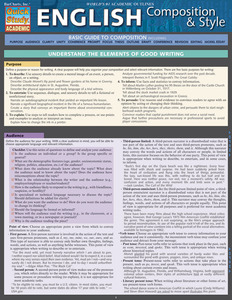 Quick Study QuickStudy English Composition & Style Laminated Study Guide BarCharts Publishing Academic Cover Image